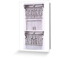 Capitals from the temple near the Roman Baths Greeting Card