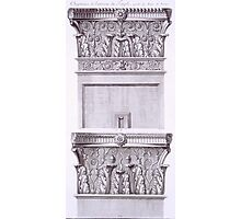 Capitals from the temple near the Roman Baths Photographic Print