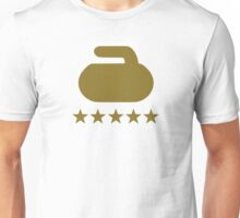 Curling stone five stars Unisex T-Shirt