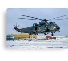 Westland Sea King HAS.5 XZ577/42 at RAF Stanley Canvas Print