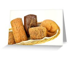 Basket of assorted rolls Greeting Card