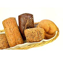 Basket of assorted rolls Photographic Print