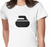 Curling stone symbol Womens Fitted T-Shirt