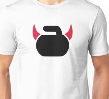 Curling devil Unisex T-Shirt