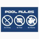 Pool Rules (Sticker Version) by Rodrigo Marckezini