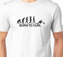 Evolution born to curling Unisex T-Shirt