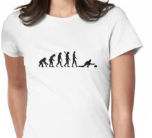 Evolution curling Womens Fitted T-Shirt