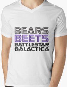 Bears, Beets, Battlestar Galactica. Mens V-Neck T-Shirt