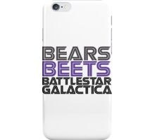 Bears, Beets, Battlestar Galactica. iPhone Case/Skin
