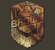 Custom Dredd Badge - Brown by CallsignShirts