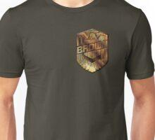 Custom Dredd Badge - Brown Unisex T-Shirt