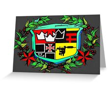 triple crown tattoo logo Greeting Card