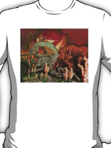 """bull, horse, and mare """"spooked"""" T-Shirt"""