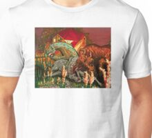 """bull, horse, and mare """"spooked"""" Unisex T-Shirt"""