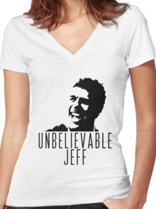 Unbelievable Jeff - Chris Kamara Women's Fitted V-Neck T-Shirt
