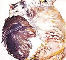Cat Snuggles by Amanda Lee