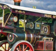 Burrell showmans Steam engine Sticker
