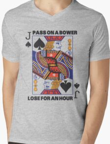 Euchre - Pass On A Bower - Lose For An Hour! Mens V-Neck T-Shirt
