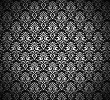 Black Lace Pattern on White Background by amovitania
