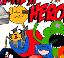 The Adventurers! - Avengers/Adventure Time Sticker