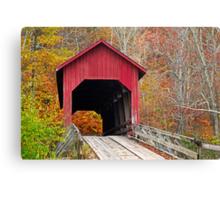 Bean Blossom Covered Bridge in Fall Canvas Print