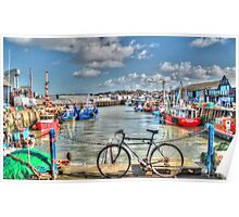 Whitstable Harbour Fishing village  Poster