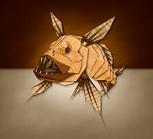 Dragonfish in Wood by YoPedro