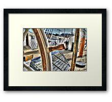 Ships Wheel - HMS Ganet  Framed Print