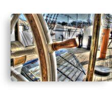 Ships Wheel - HMS Ganet  Canvas Print