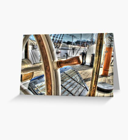 Ships Wheel - HMS Ganet  Greeting Card