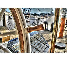 Ships Wheel - HMS Ganet  Photographic Print