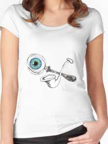 The Magnifying Glass And The Meerscaum Pipe And The Eyeball Have It Women's Fitted Scoop T-Shirt