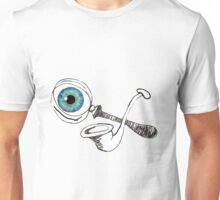 The Magnifying Glass And The Meerscaum Pipe And The Eyeball Have It Unisex T-Shirt