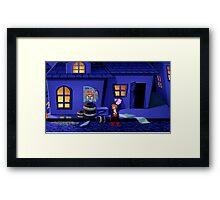 Guybrush and the voodoo (Monkey Island 2) Framed Print