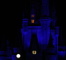 Cinderella Castle Blue by jennisney