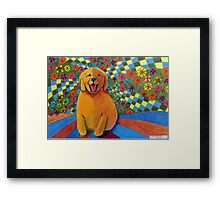 406 - HAPPY PUPPY - DAVE EDWARDS - MIXED MEDIA - 2014 Framed Print