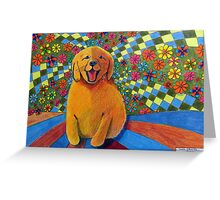 406 - HAPPY PUPPY - DAVE EDWARDS - MIXED MEDIA - 2014 Greeting Card