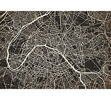 Paris map ink lines Photographic Print