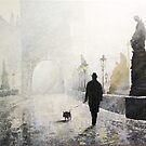 Prague Charles Bridge Morning Walk by Yuriy Shevchuk