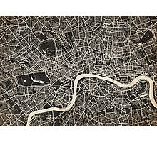 london map ink lines Photographic Print