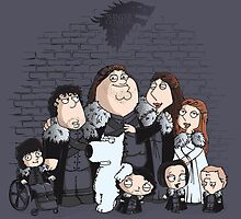 Family Guy in Stark game of thrones poster by EdWoody