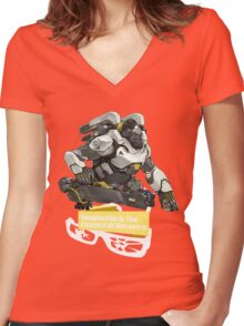 The Essence Women's Fitted V-Neck T-Shirt