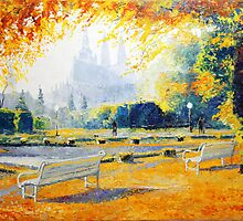 Prague Autumn In The Kralovska Zahrada by Yuriy Shevchuk
