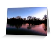 Violet Dusk Greeting Card