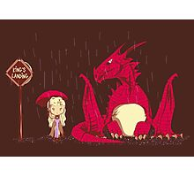 khaleesi going to King's Landing with dragon 2 poster Photographic Print
