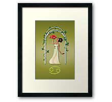 Zodiaque - Cancer Framed Print