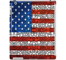 American Flag - USA Stone Rock'd Art United States Of America iPad Case/Skin