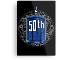 Happy 50th Tardis Metal Print