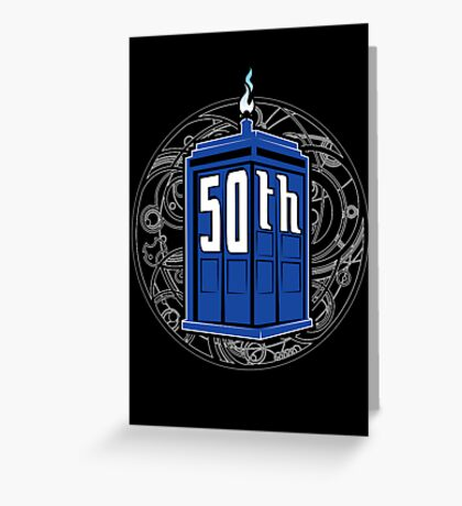 Happy 50th Tardis Greeting Card