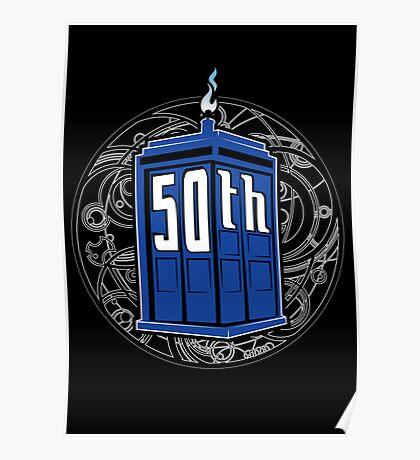 Happy 50th Tardis Poster